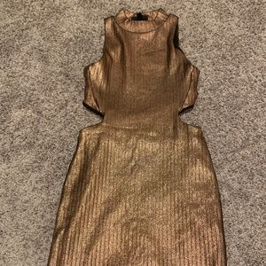 TopShop Gold dress - Size US 2